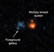Hubble's view on distant quasar
