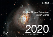 Cover Page of the Hubble 30 Hidden Gems Calendar