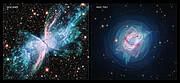 NGC 6302 and NGC 7027