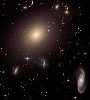 Hubble illuminates cluster of diverse galaxies