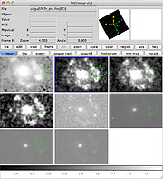 Hubble observations from NGC 7469 displayed in ds9