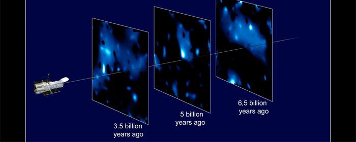 first 3d map of the universe s dark matter scaffolding esa hubble