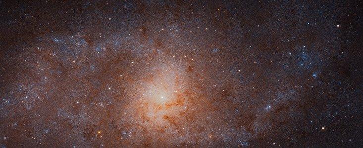 Hubble mosaik af M33 triangulum galaksen