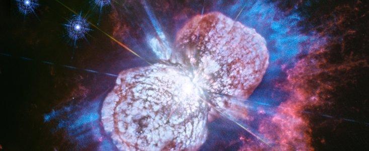 نمایی از بزرگترین آتشبازی ستارهای در کهکشان راه شیری