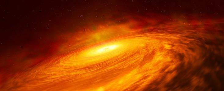 Gasskiven om  NGC 3147s centrale sorte hul