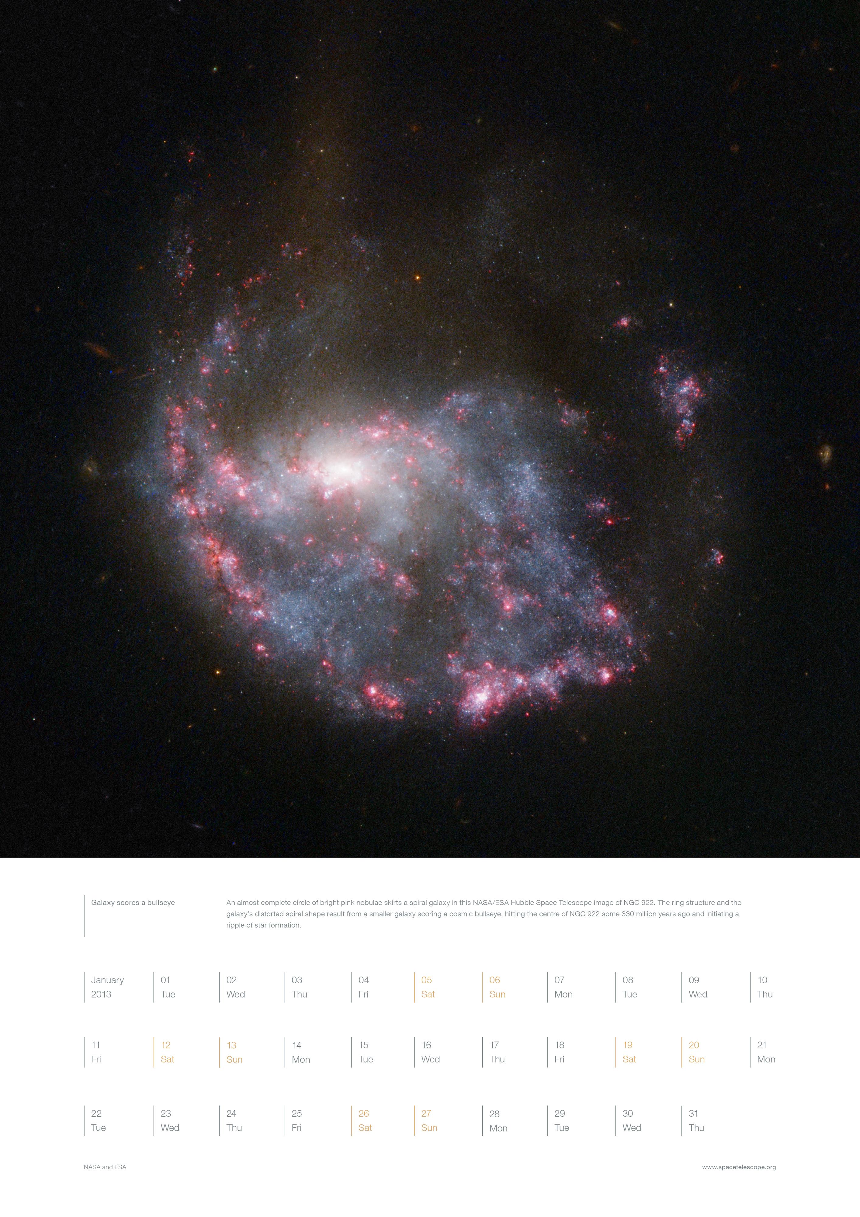 January from the Hubble 2013 calendar | ESA/Hubble