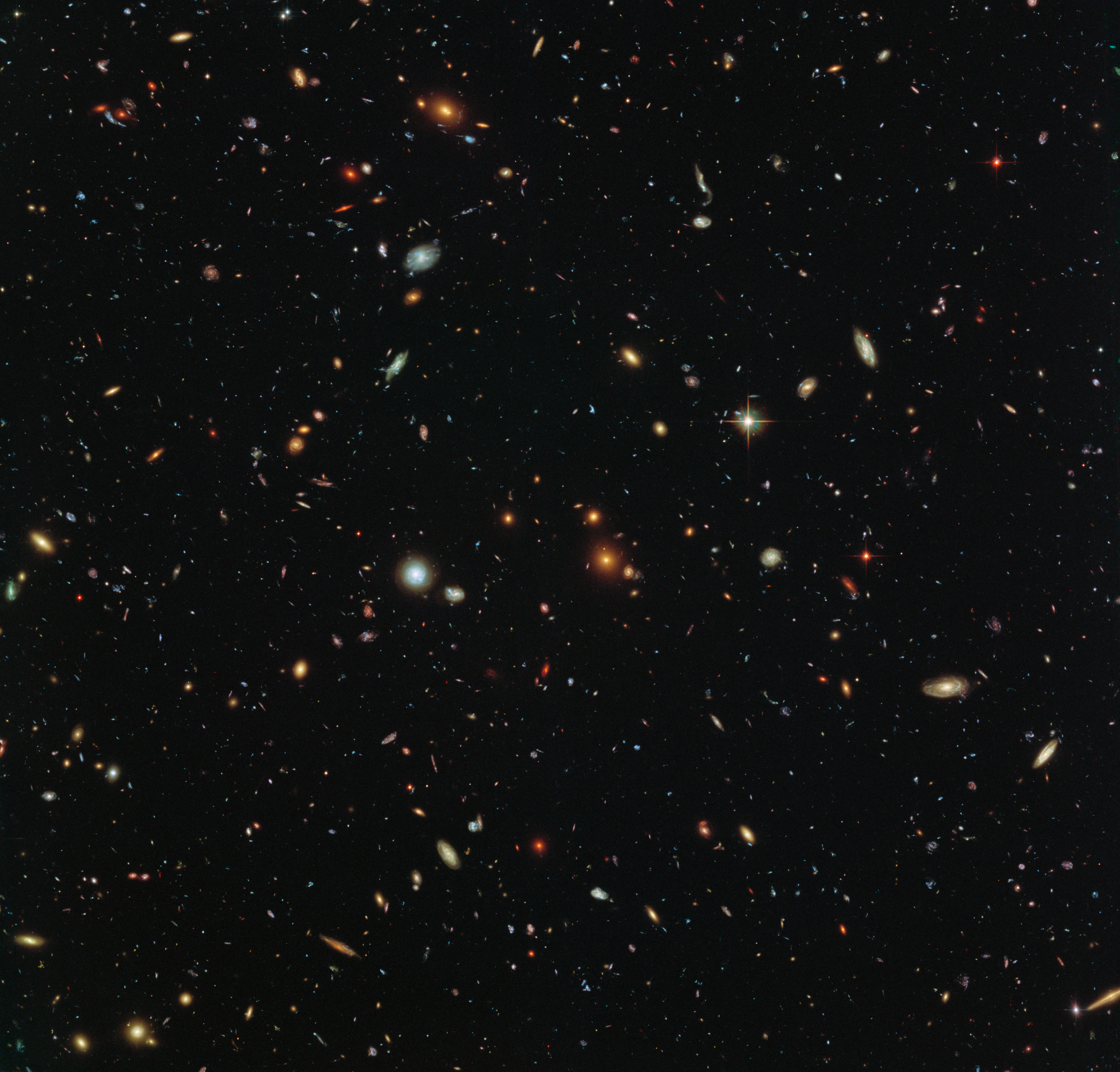 Hubble image of galaxies in Sculptor implies 100 billion ...