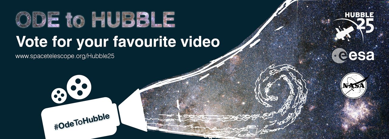 vote for your favourite ode to hubble video esa  hubble 25th Anniversary Graphics 25th Anniversary Logo Ideas