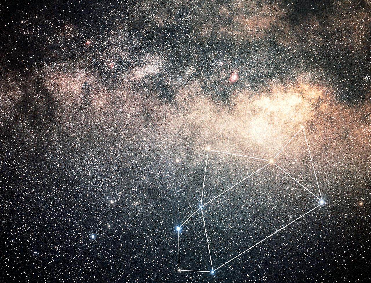 Sagittarius Constellation Ground Based Image Esa Hubble