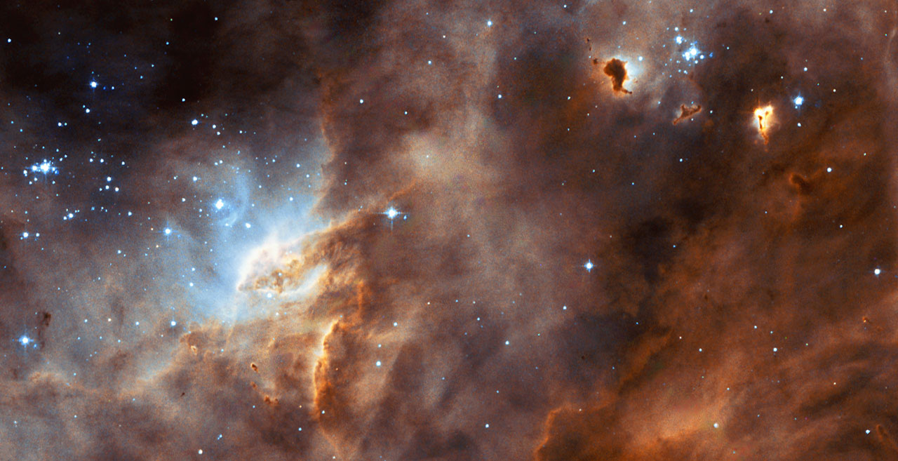 Hubble studies sequences of star formation in neighbouring ...