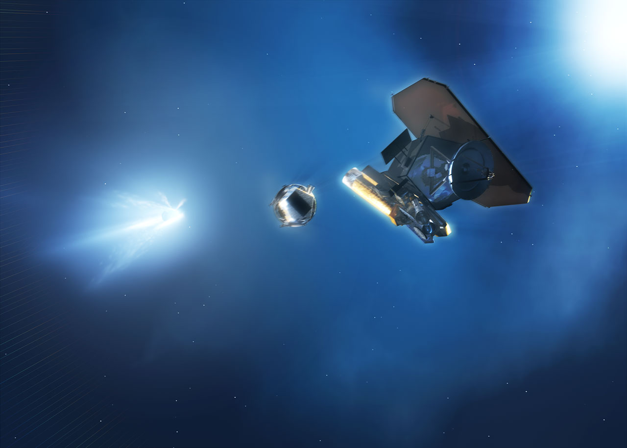 NASA's Deep Impact spacecraft [artist's impression] | ESA ...