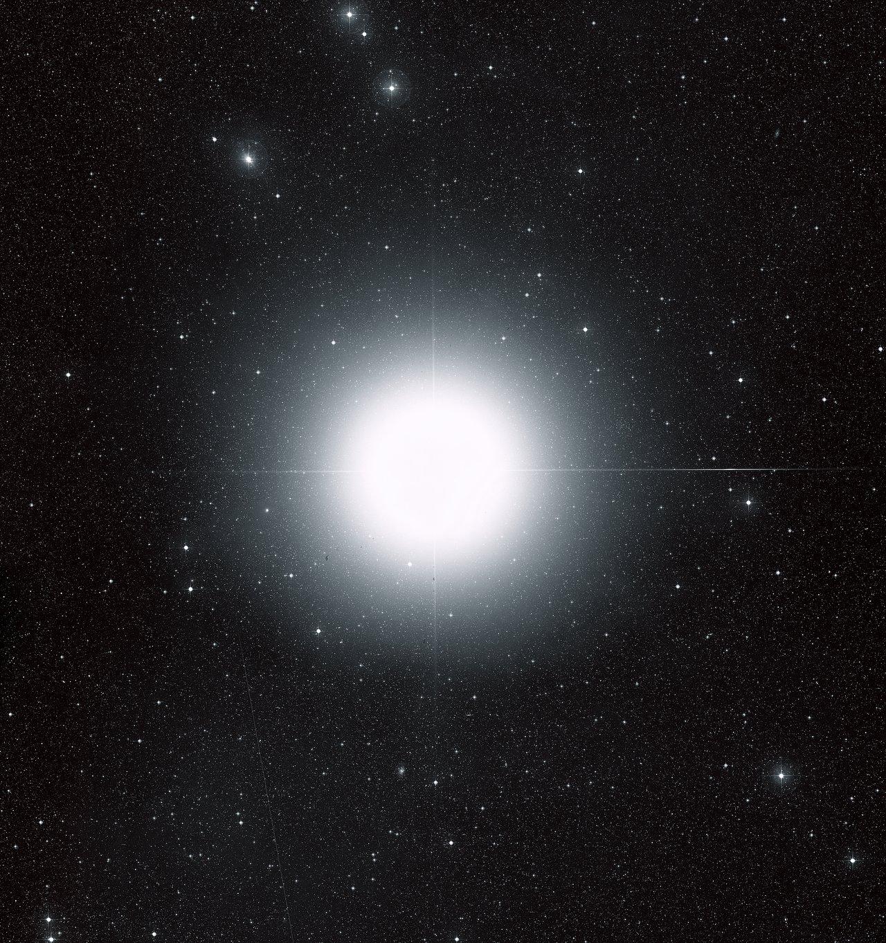 Sirius Ground Based Image Esa Hubble