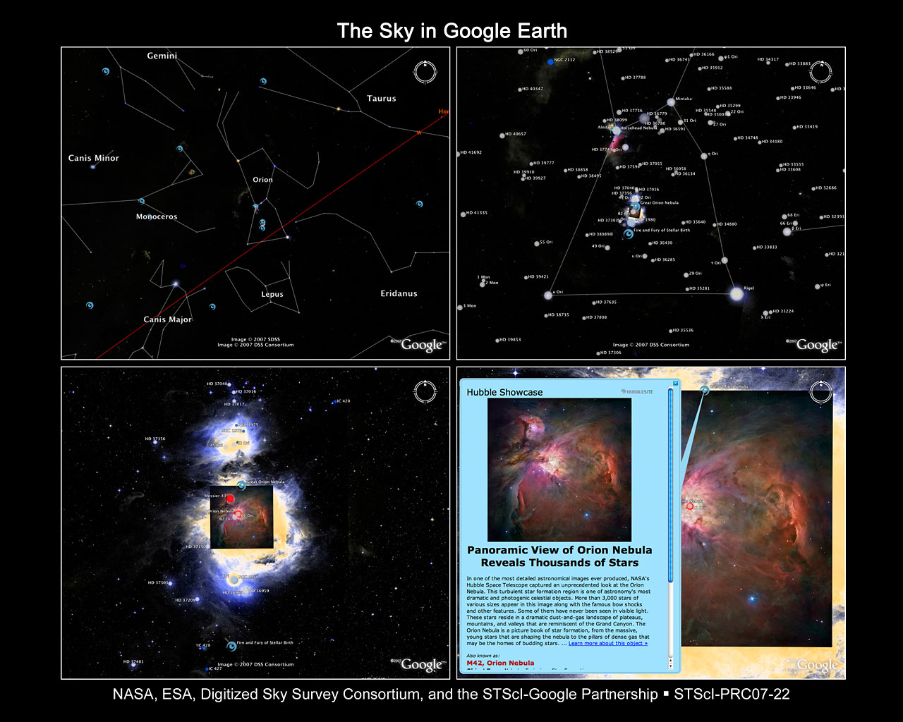 Google Solar Map >> The Sky in Google Earth | ESA/Hubble