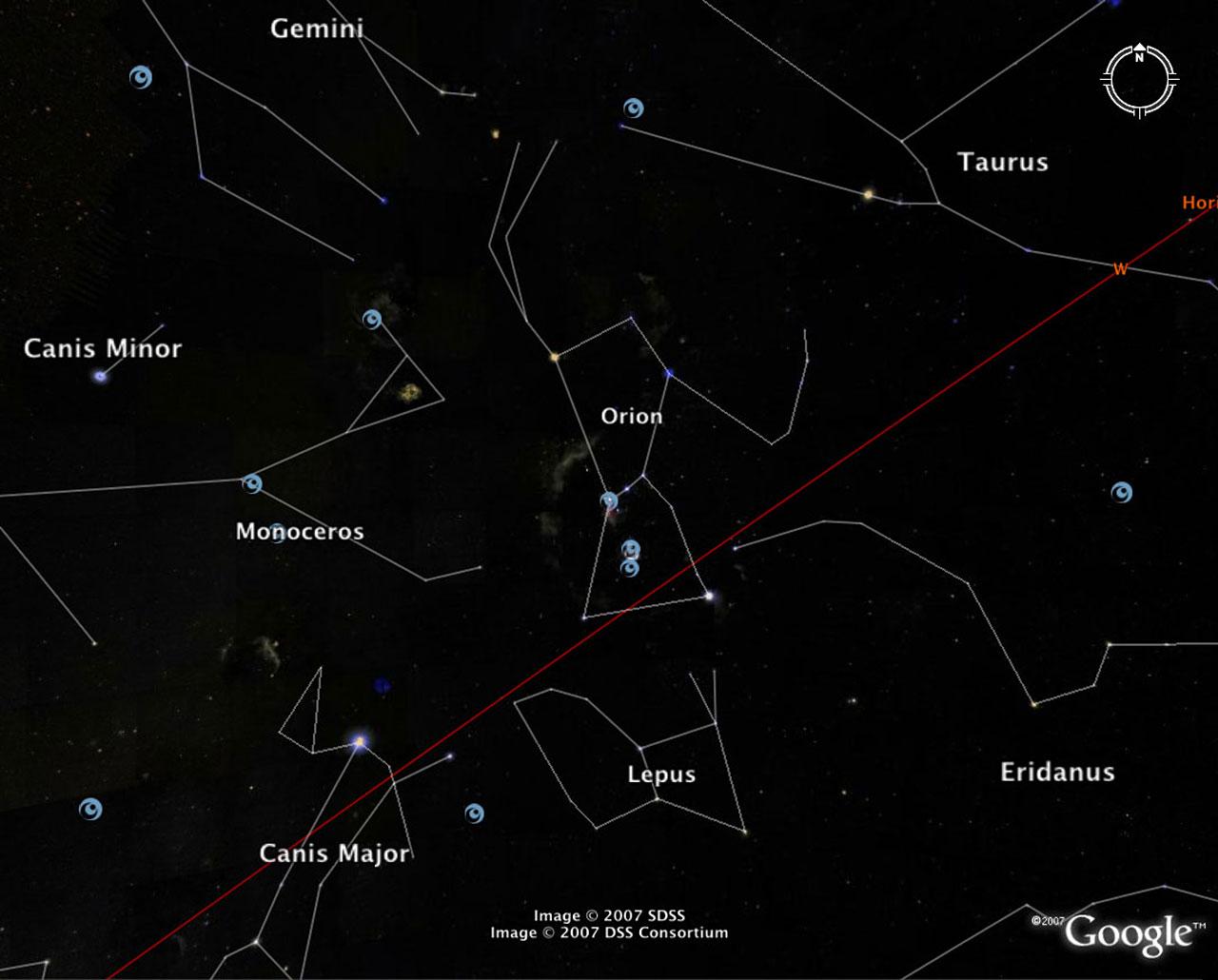 The Sky In Google Earth Esa Hubble