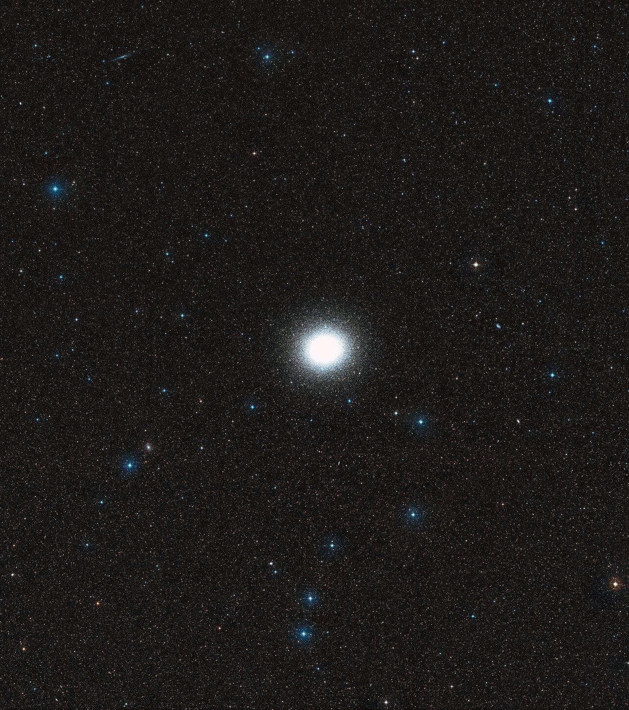 black hole found in enigmatic omega centauri esahubble