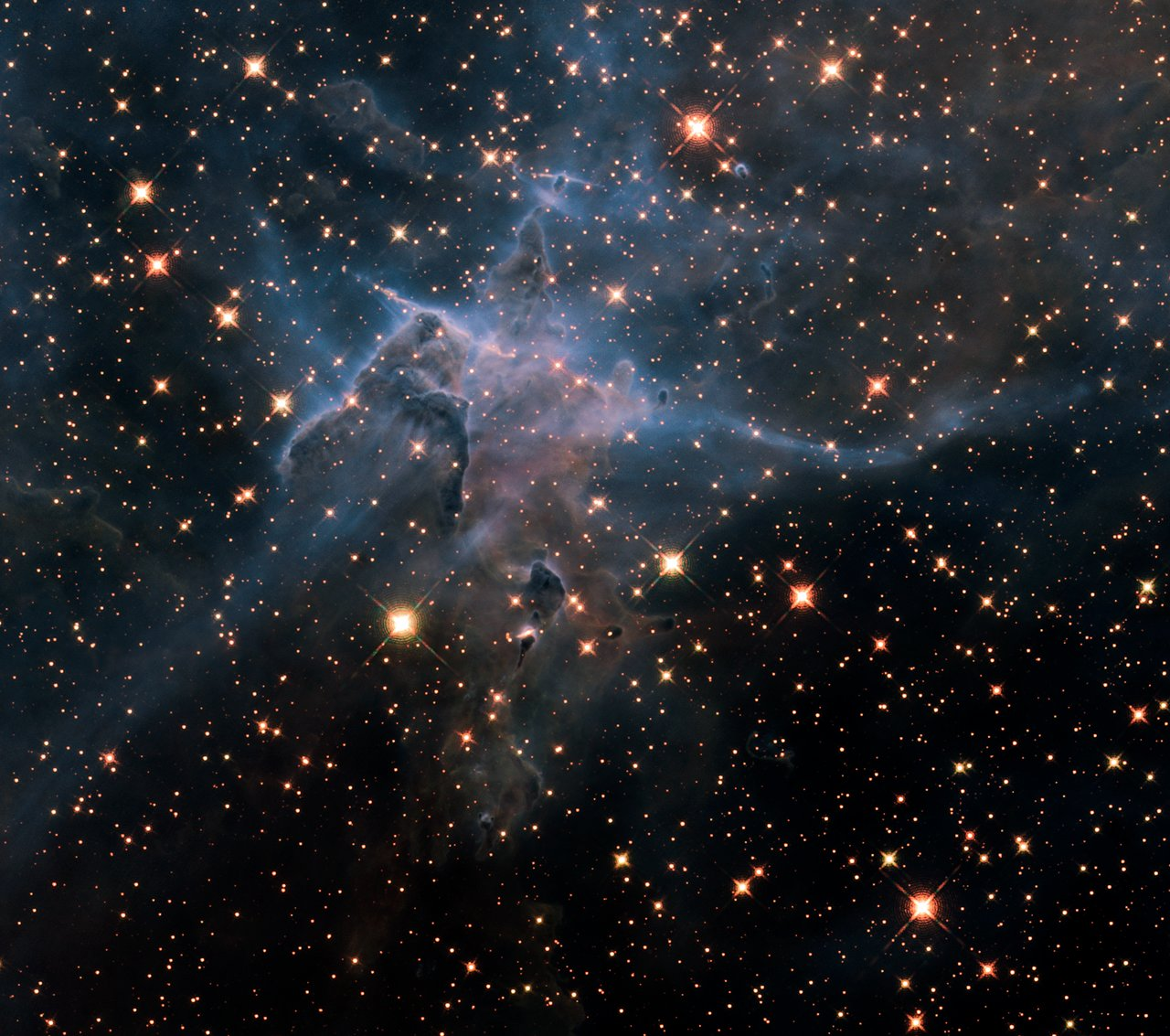 "Hubble's wide view of ""Mystic Mountain"" in the infrared ..."