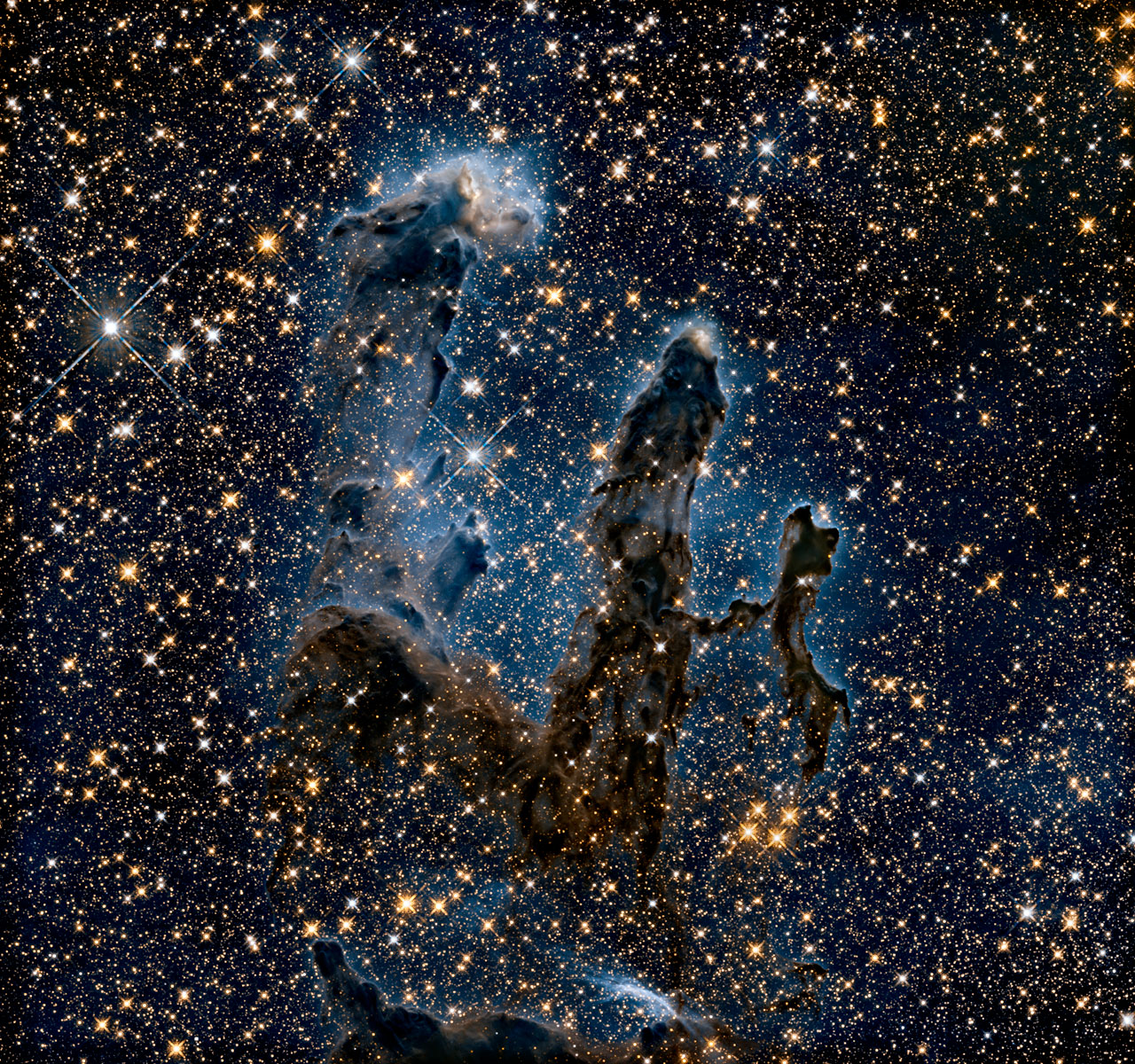 Pillars of Creation in Infrared