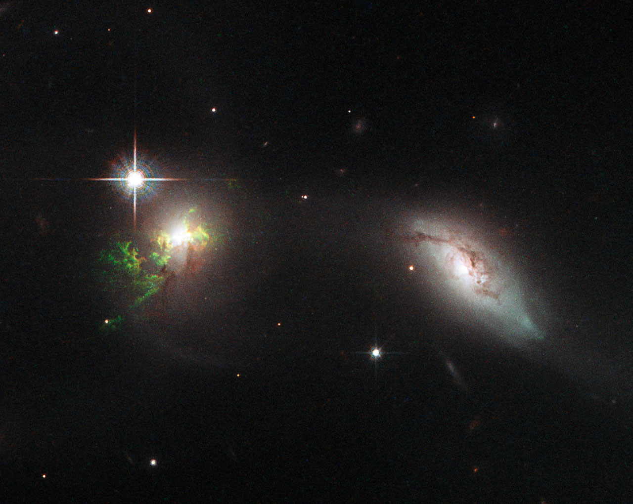 Hubble pictures of galaxies