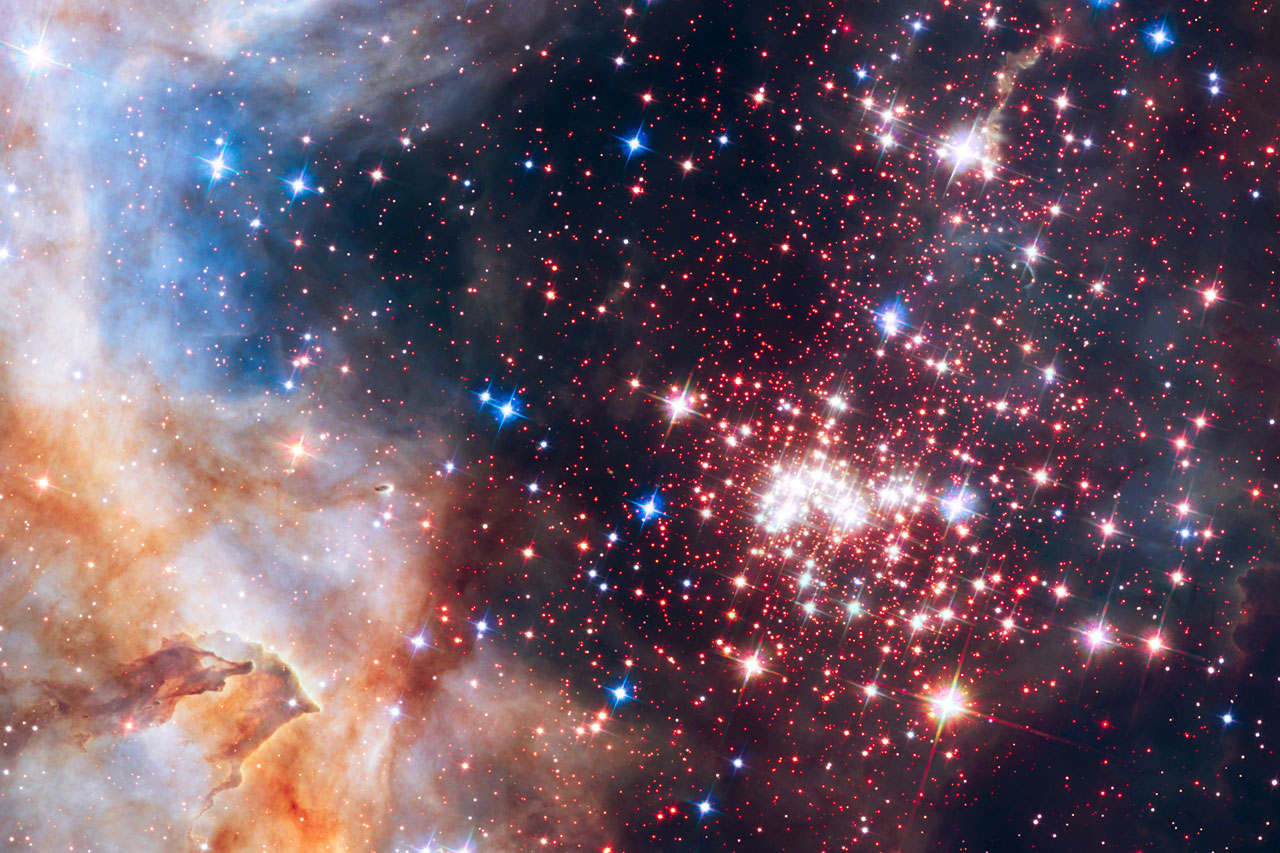 "Science Release: Hubble Finds that ""Distance"" From the Brightest Stars is Key to Preserving Primordial Discs"