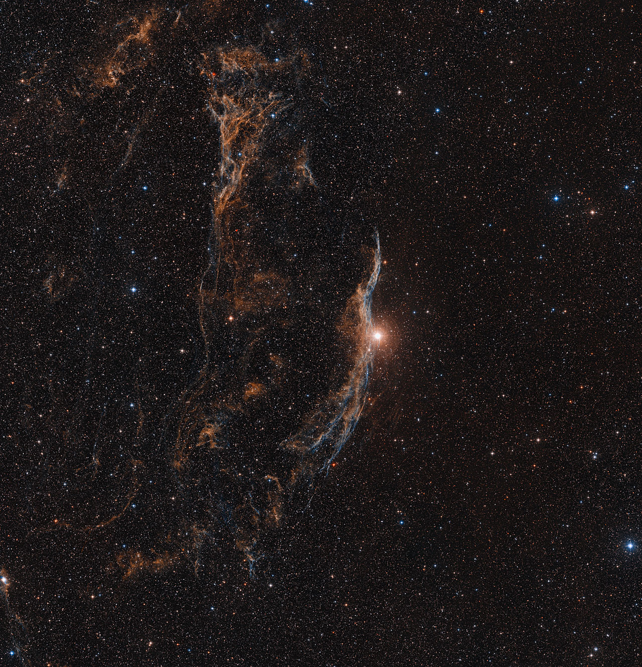 The Veil Nebula (ground-based view)