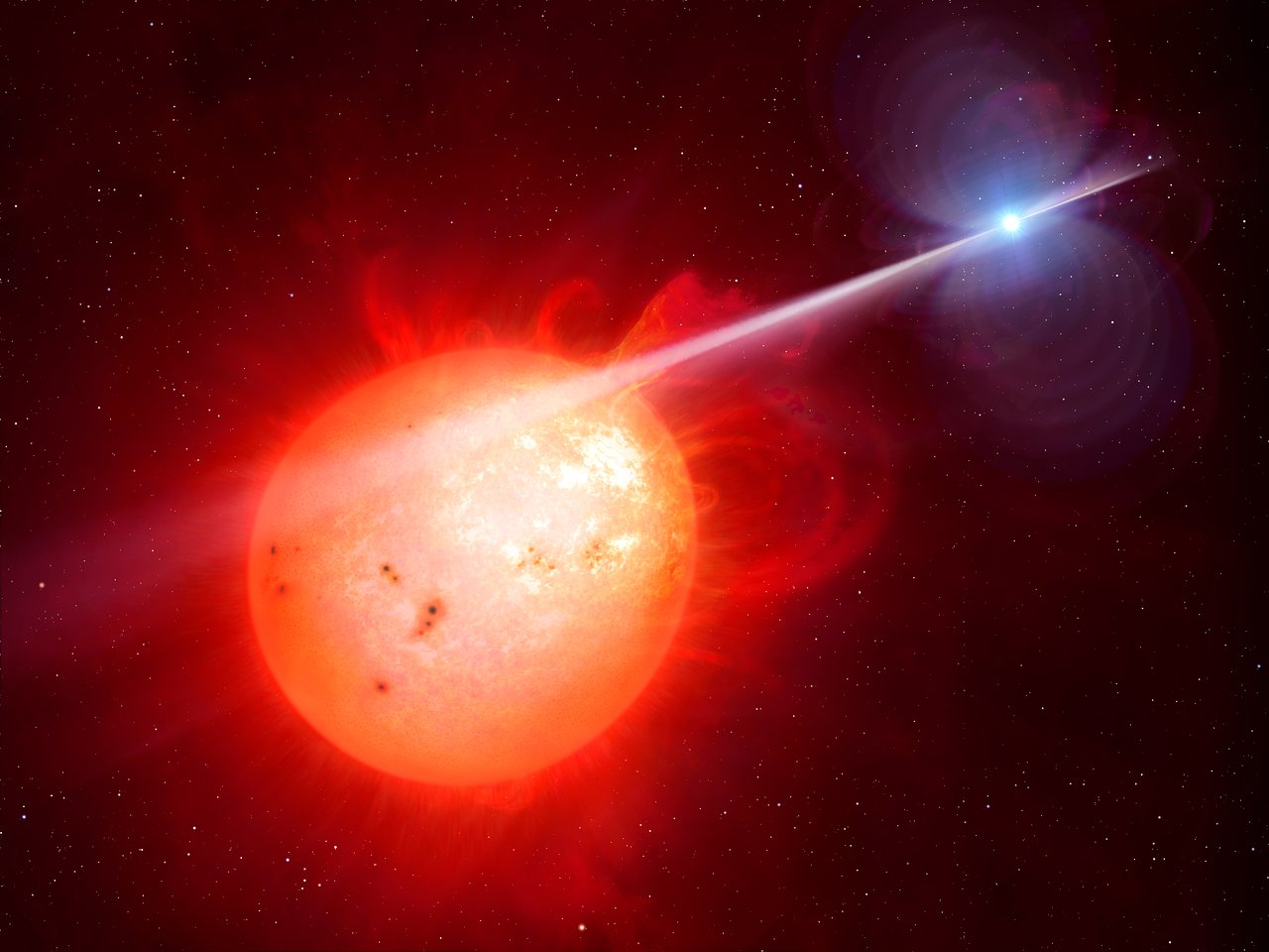 Science Release: White dwarf lashes red dwarf with mystery ray