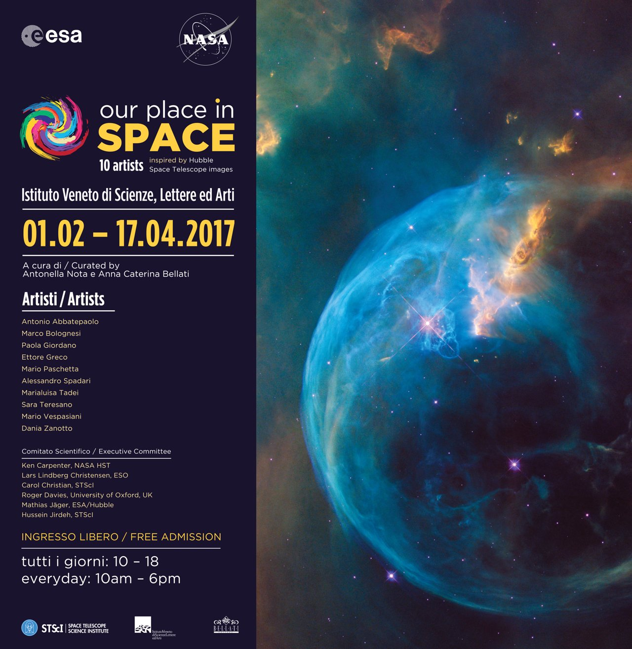 Our Place In Space Banner Esa Hubble