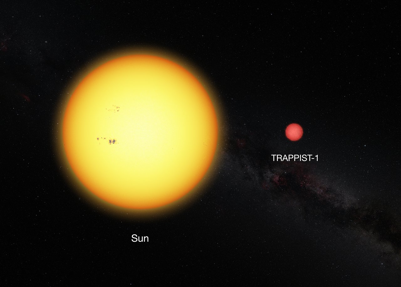 Comparison between the Sun and the ultracool dwarf star TRAPPIST-1