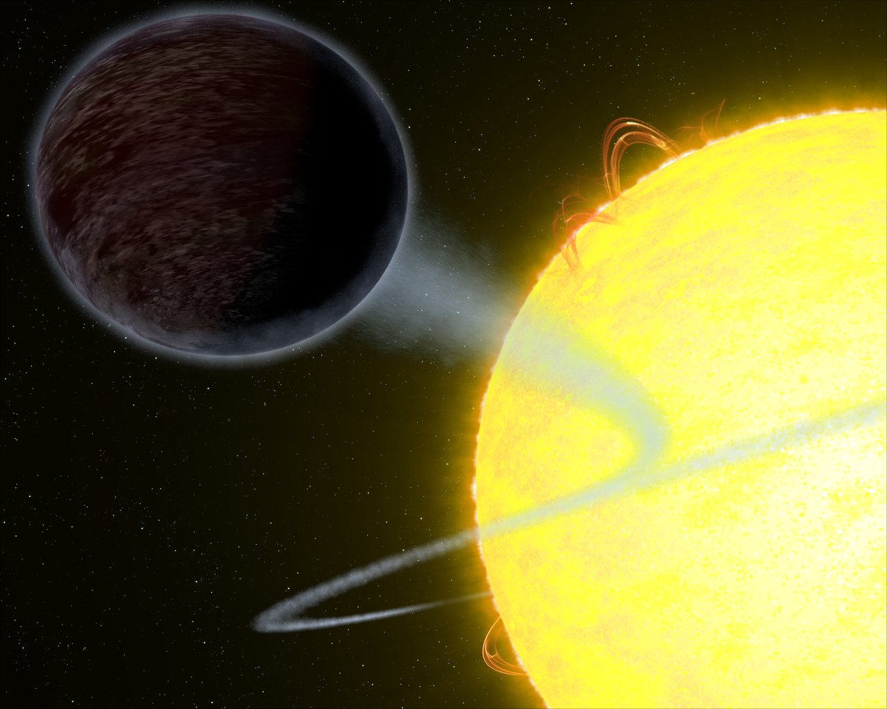 Science Release: Hubble observes pitch black planet