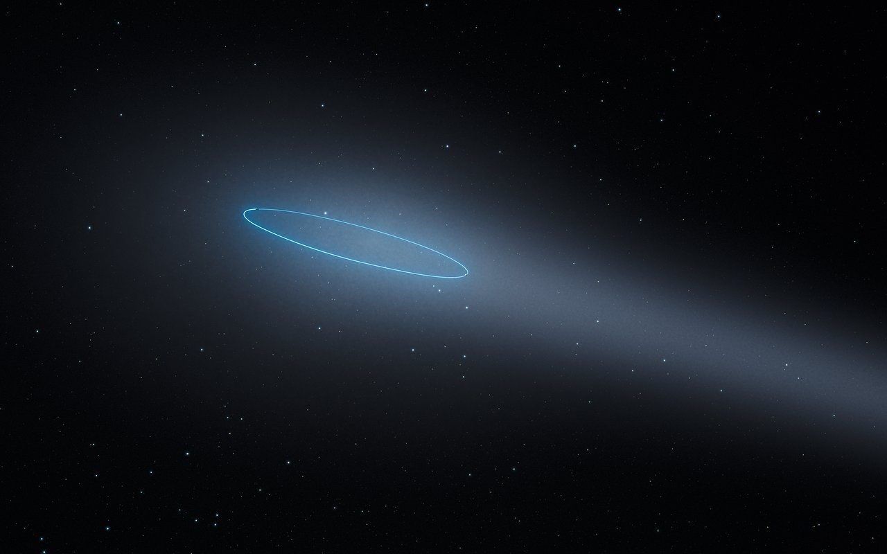 The binary asteroid 288P (artist's impression)