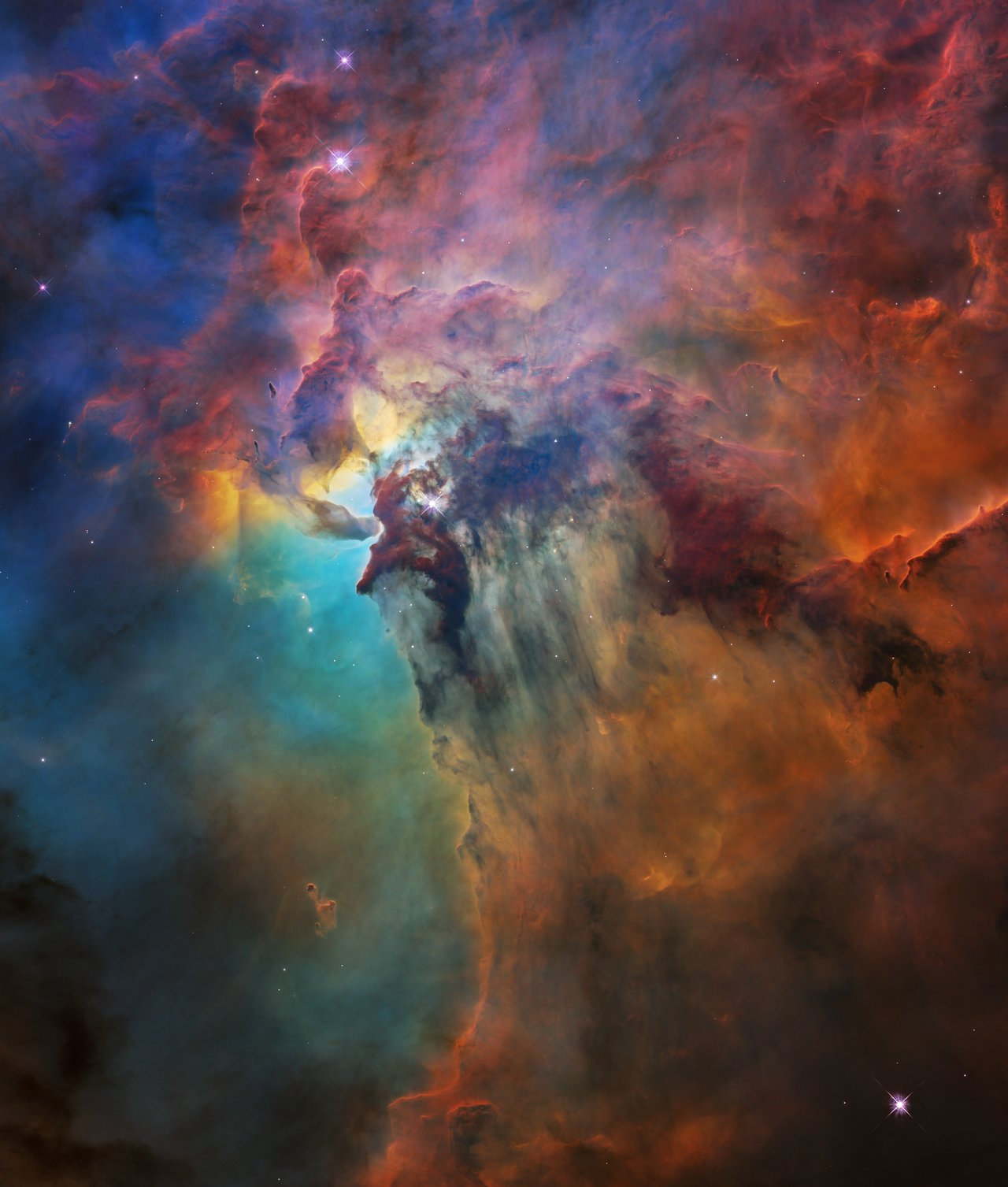 Hubble's 28th birthday picture: The Lagoon Nebula (Uncropped image)