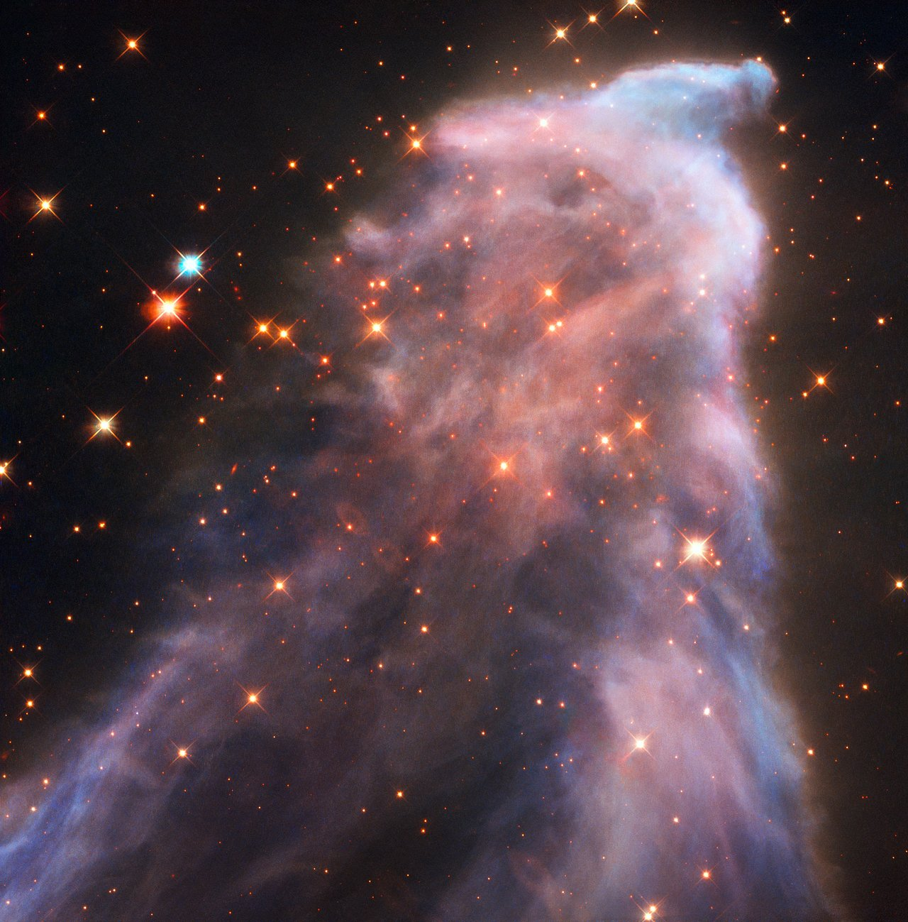 Hubble Image of the Ghosts of Cassiopeia