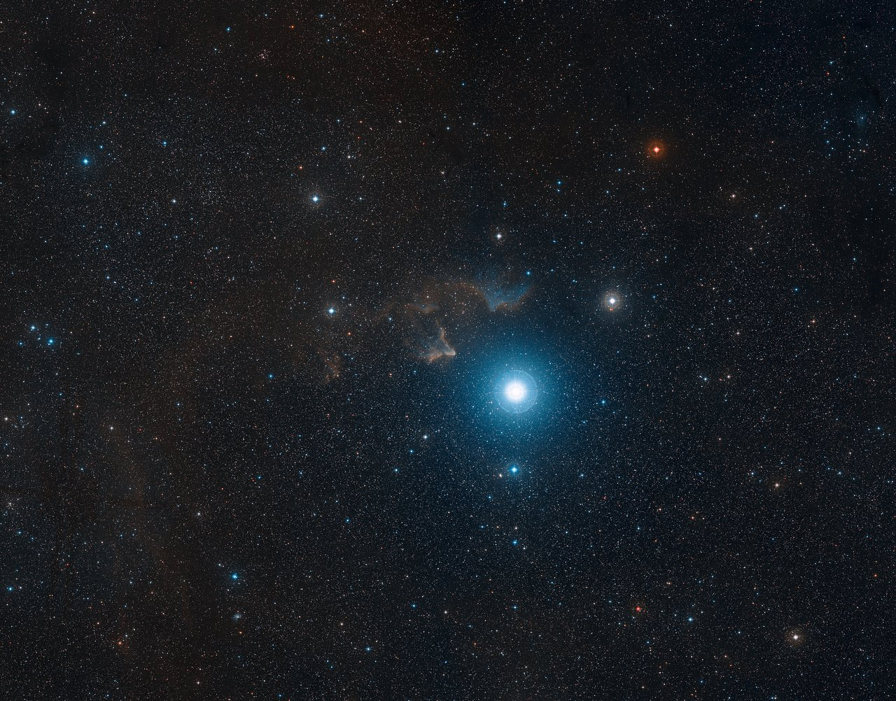 Ground-based view of the sky around IC 63