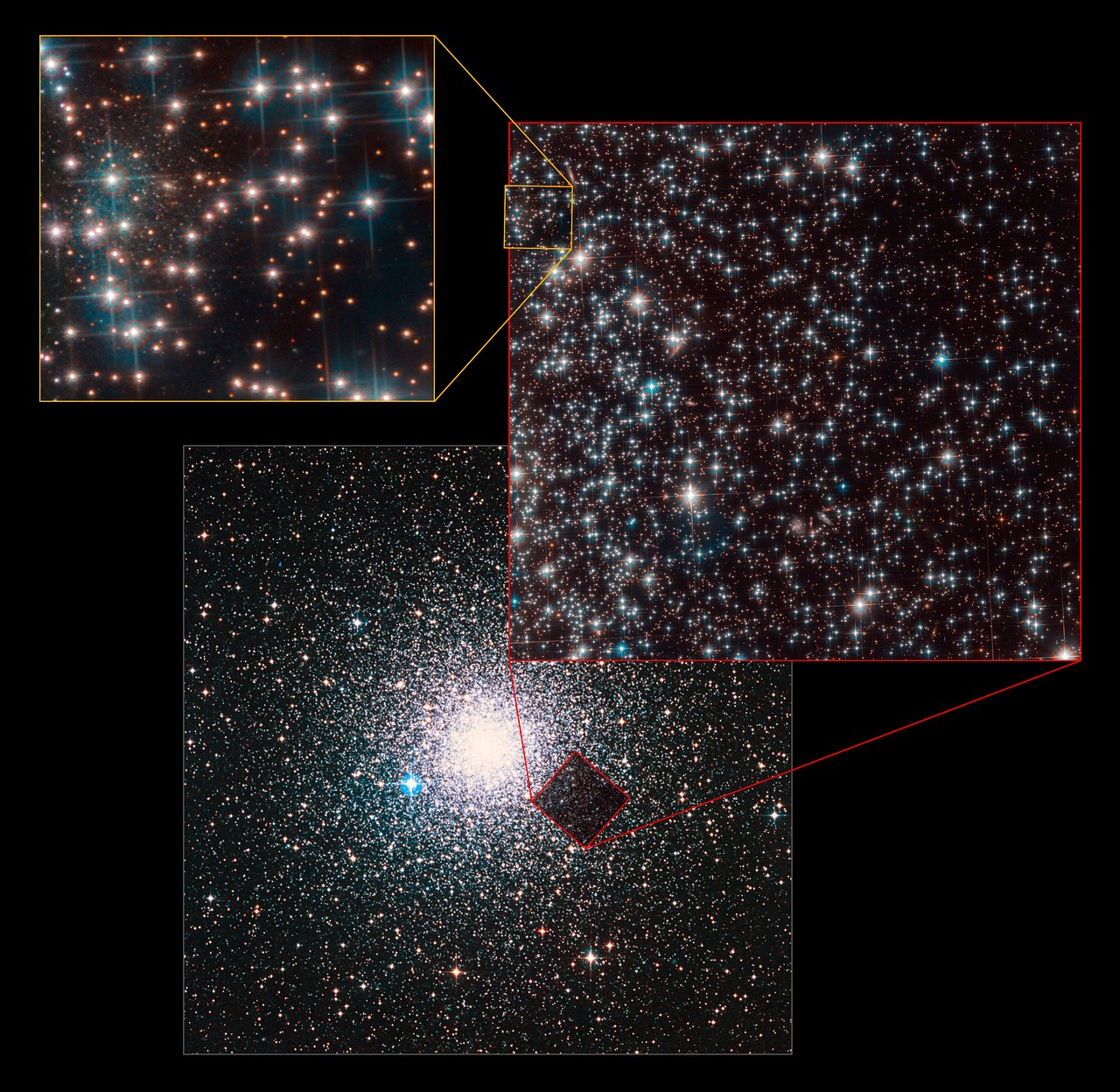 Hubble Accidentally Finds Entire Galaxy Lurking Behind a Cluster of Stars