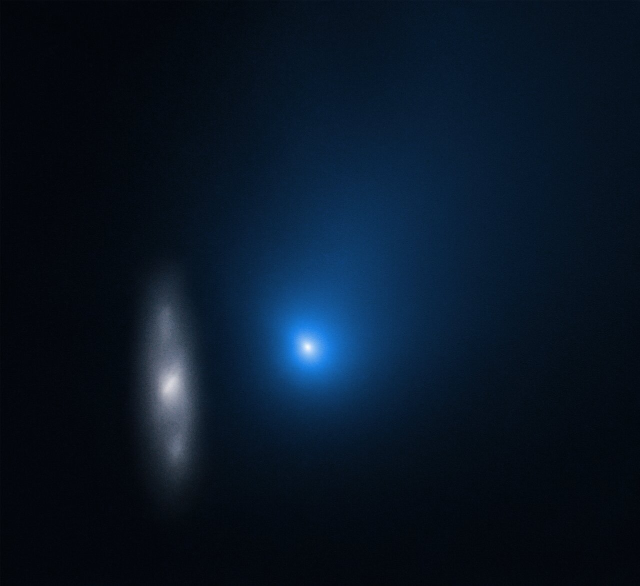 Comet 2I/Borisov and Distant Galaxy in November 2019