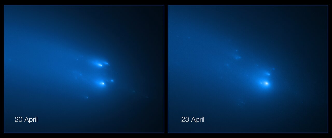 Photo Release: Hubble Captures Breakup of Comet ATLAS
