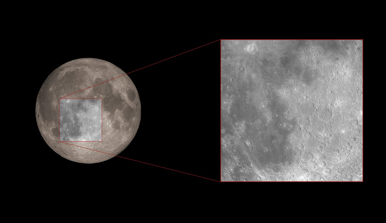 Hubble's Region of Study During the Lunar Eclipse