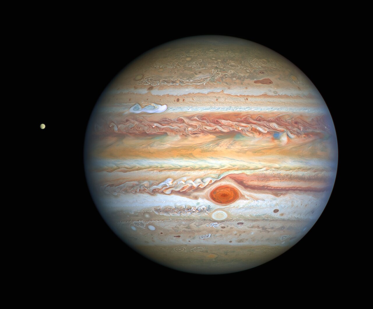 Hubble Captures Crisp New Image of Jupiter and Europa thumbnail