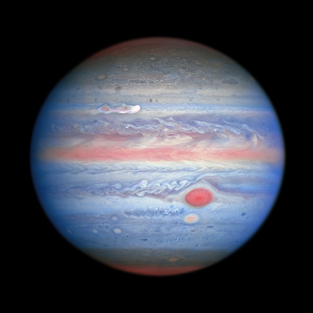 Hubble's New Rainbow View of Jupiter