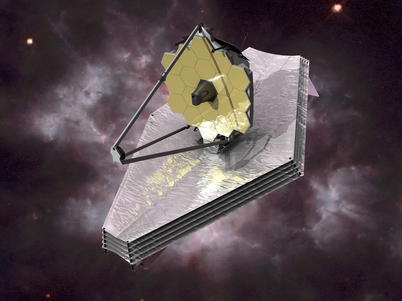 James Webb Space Telescope Artist S Impression Esa Hubble