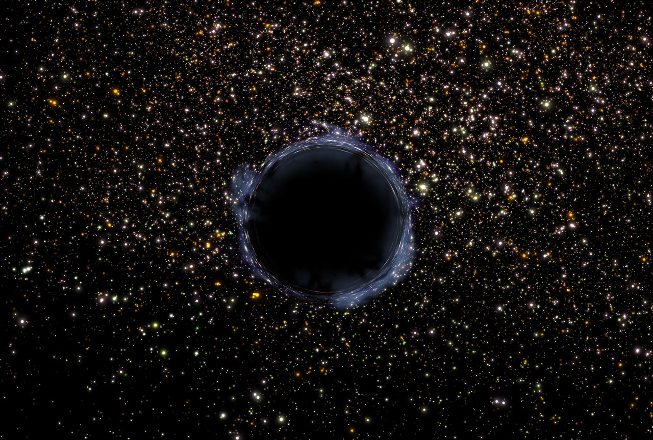 Artist's View of a Black Hole in a Globular Cluster | ESA ...