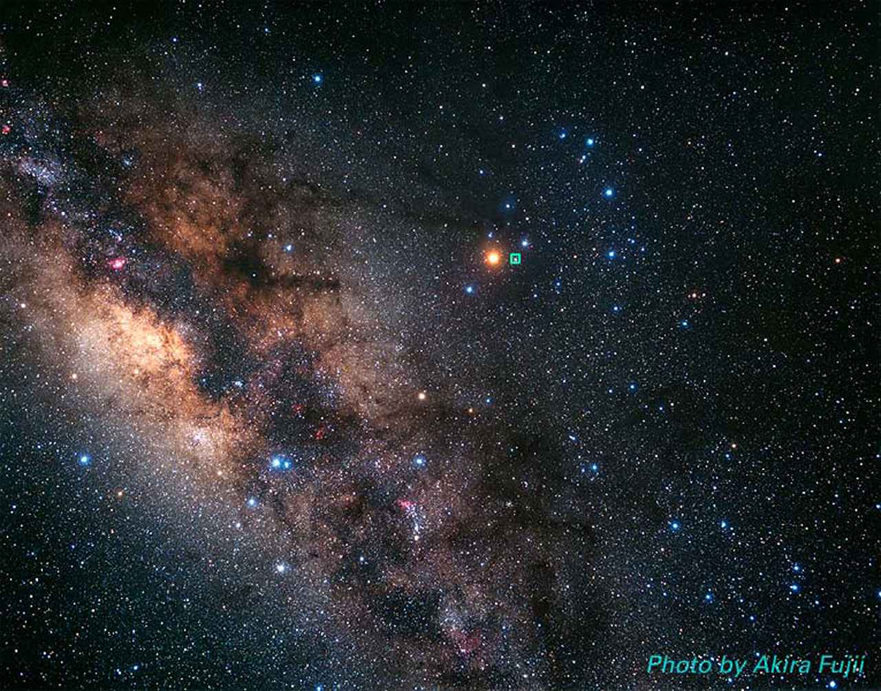 The Milky Way and Scorpius constellation (ground-based ...