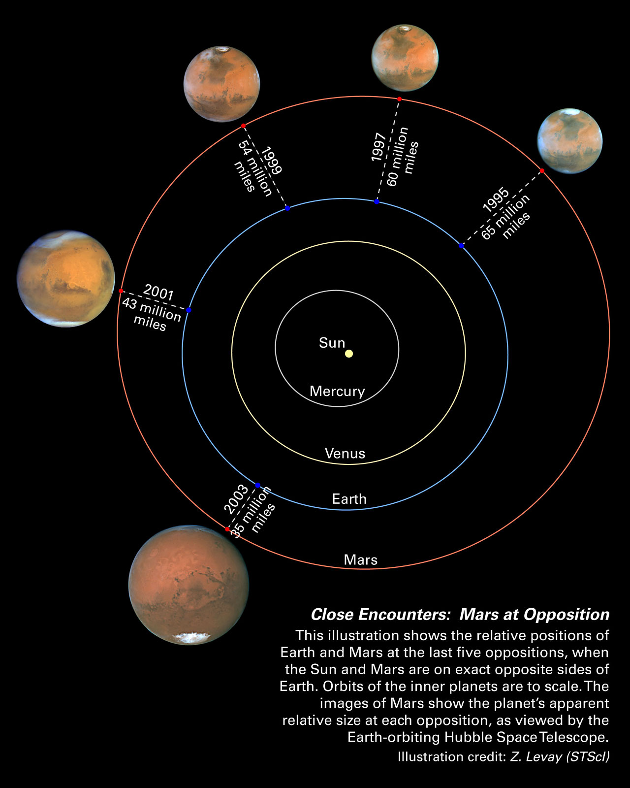 Diagram Of The Sun And The Planets.Mars Oppositions Solar System Diagram Esa Hubble