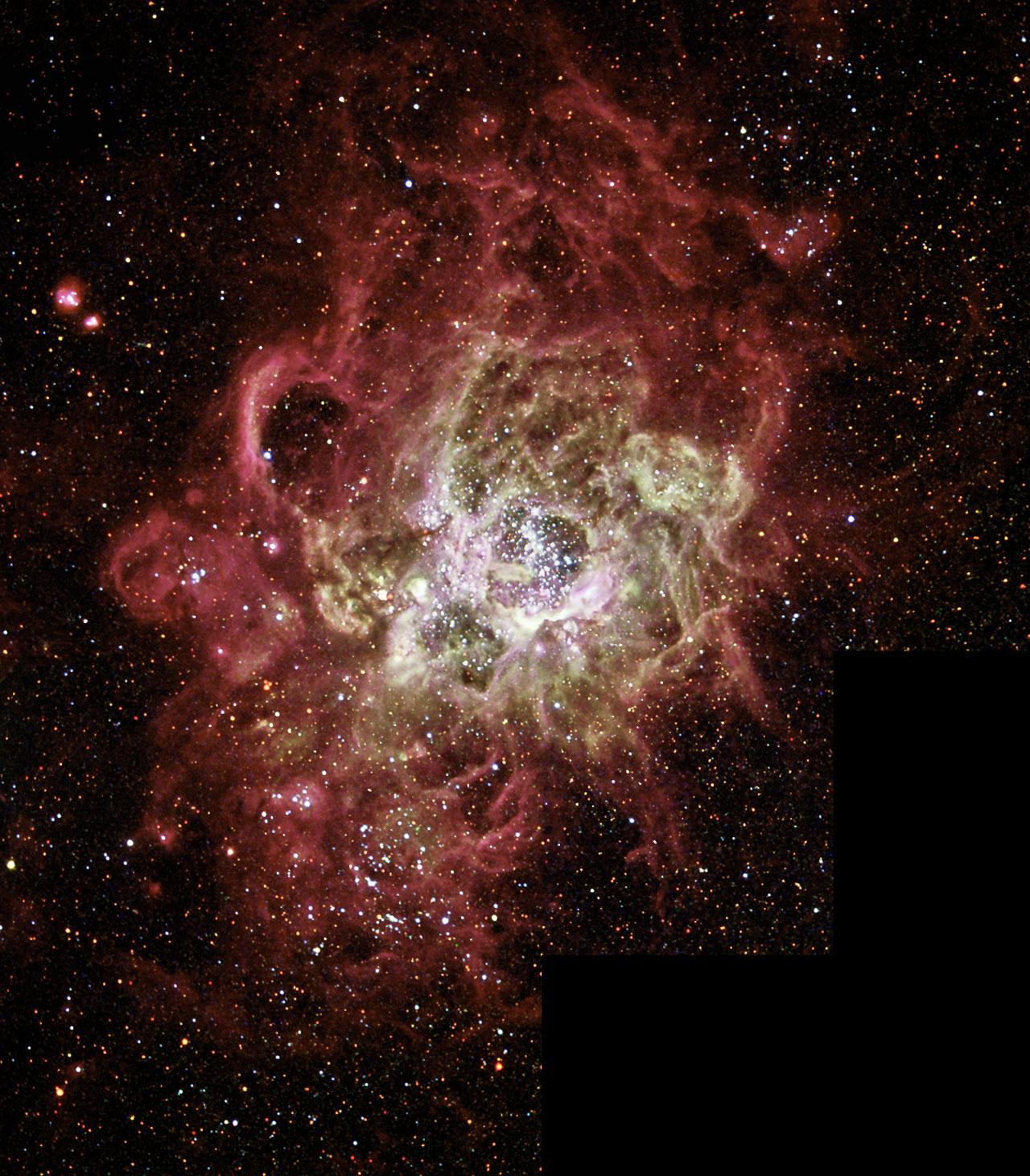 Firestorm of Star Birth Seen in a Local Galaxy