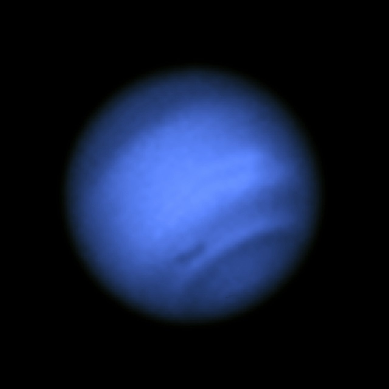 Image with dark spot (blue light)