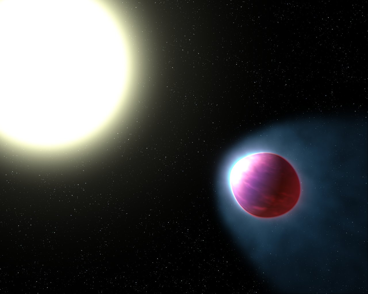 Artist's impression of WASP-121b