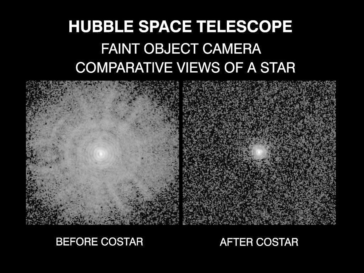 Comparative View Of A Star Before And After The