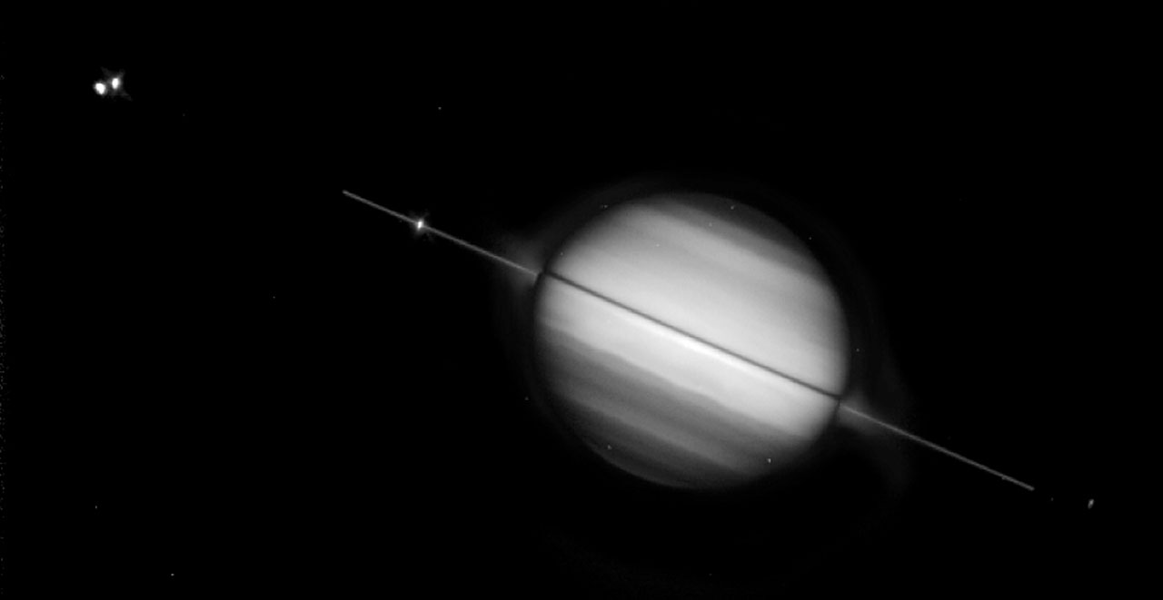 Saturn S Rings Edge On Esa Hubble