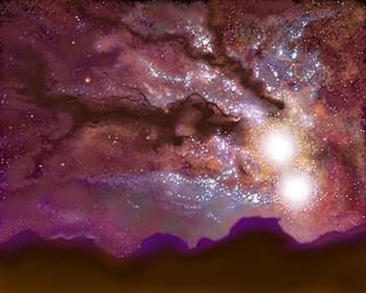 Milky Way/Andromeda collision (artist's impression) | ESA ...
