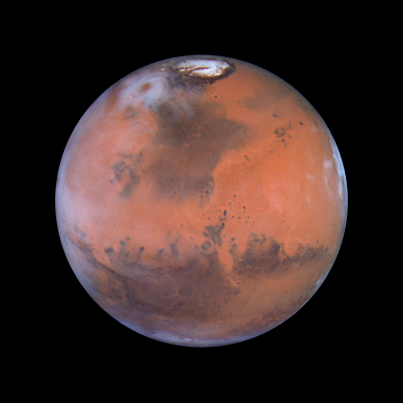 Mars at Opposition (the Acidalia Region) | ESA/Hubble