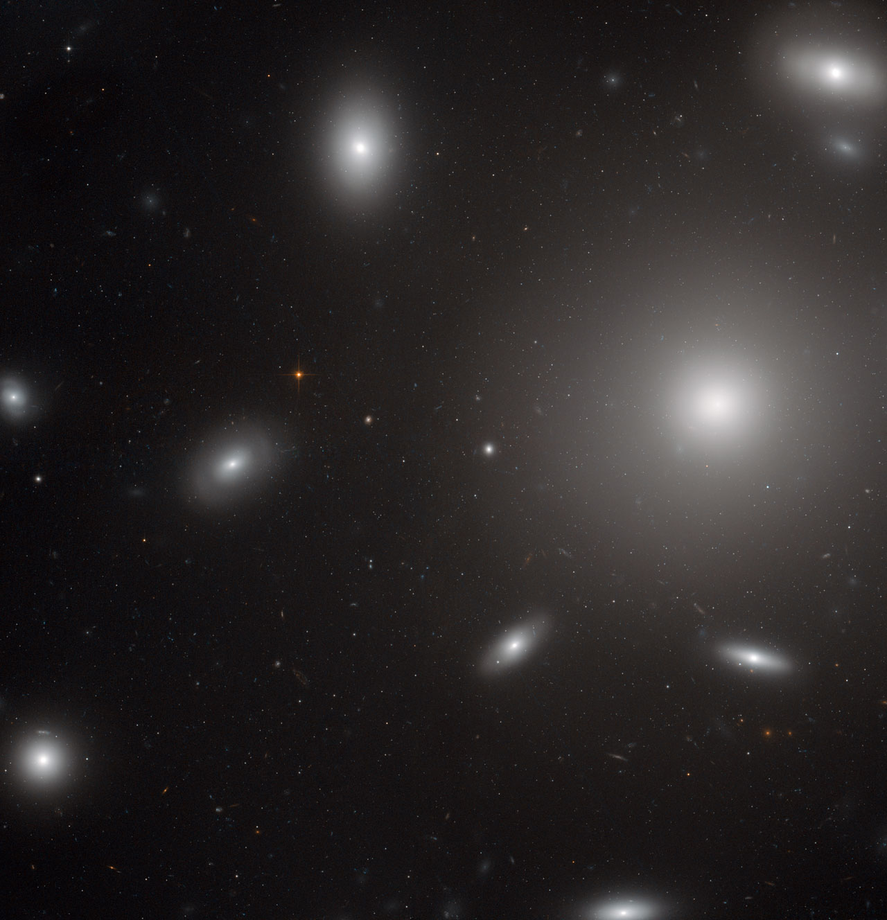 Galaxies In A Swarm Of Star Clusters Esa Hubble